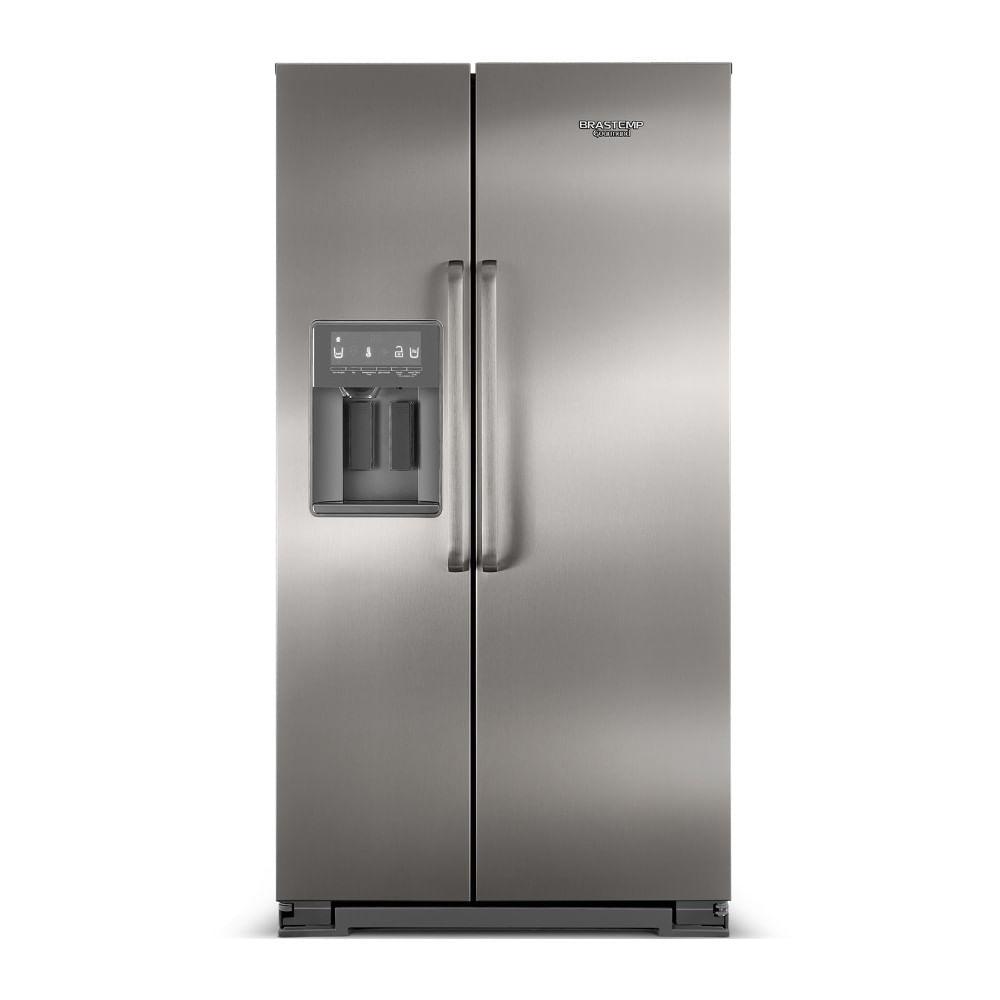 Refrigerador Brastemp Gourmand Side By Side 539 Litros 110V BRS75BRANA