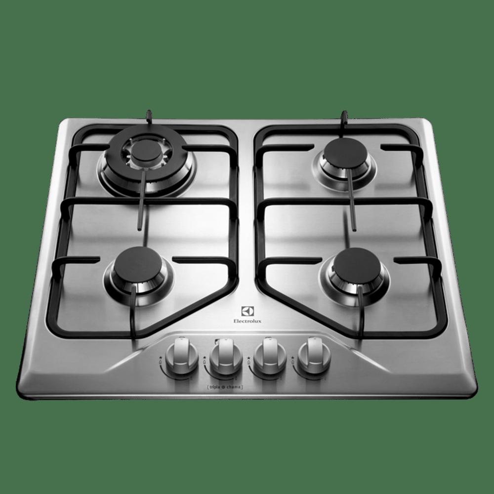 Cooktop a Gás Electrolux 4 Queimadores GT60X Tripla Chama Inox Bivolt 23604DBI089