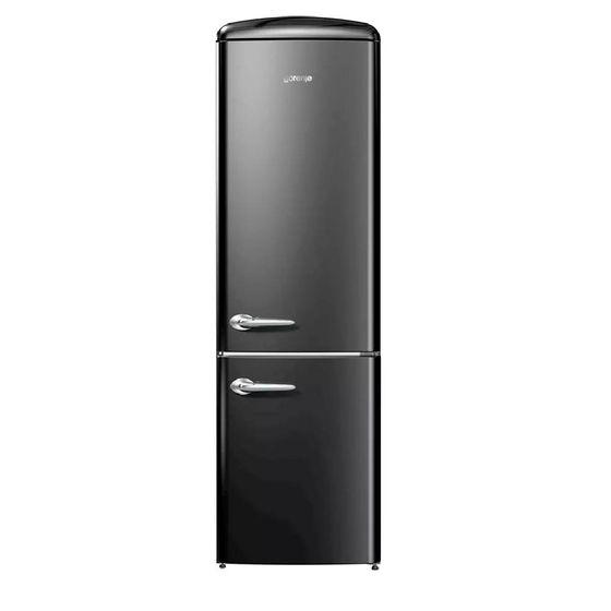 Geladeira/refrigerador 329 Litros 2 Portas Preto Retro Collection - Gorenje - 220v - Onrk192bk