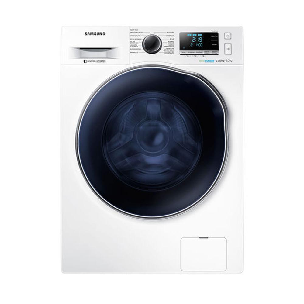 Lavadora e Secadora Samsung 11kg Branca 110V WD11J6410AW/AZ