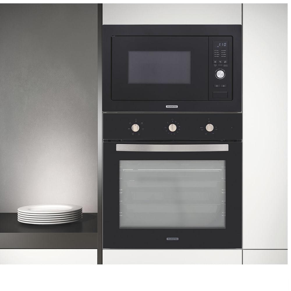 Forno Eletrico de Embutir Tramontina New Glass Cook B 60 F7 71 Litros Inox 220V 94867/220