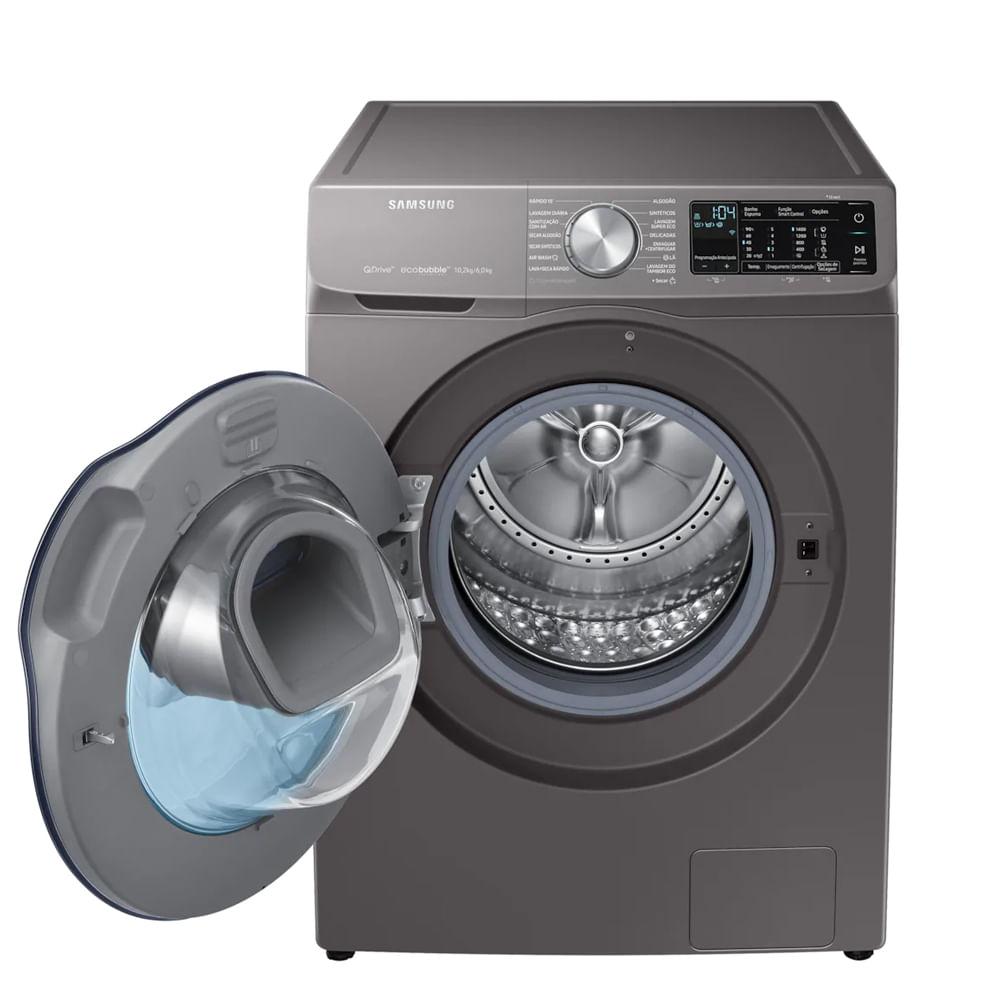 Lavadora e Secadora Samsung 10,2kg Inox 110V WD10N64FOOX/AZ