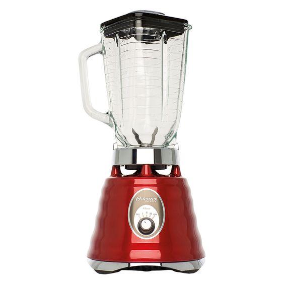 Liquidificador-Classico-Oster-Potencia-600W-Copo-Vidro-vermelho-110V