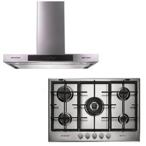 Kit-Brastemp-Gourmand-220V---Cooktop-a-Gas-5-Queimadores---Coifa-De-Parede