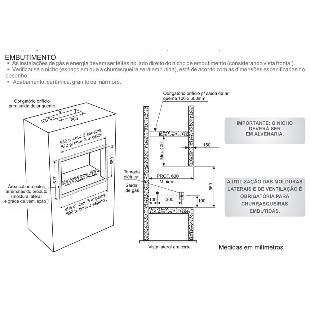 Churrasqueira-A-Gas-Bancada-Embutir-Fischer-5-Espetos-Bivolt-2