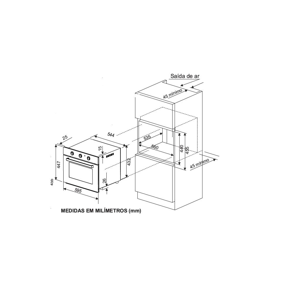 Forno-Eletrico-de-Embutir-Infinity-50-Litros-Preto-Fischer-110V