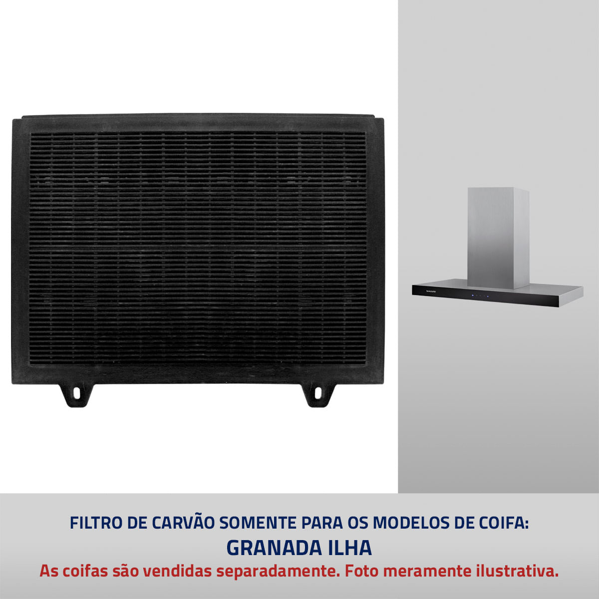 Filtro de Carvão para Coifa Suggar modelo Granada Ilha 4806529