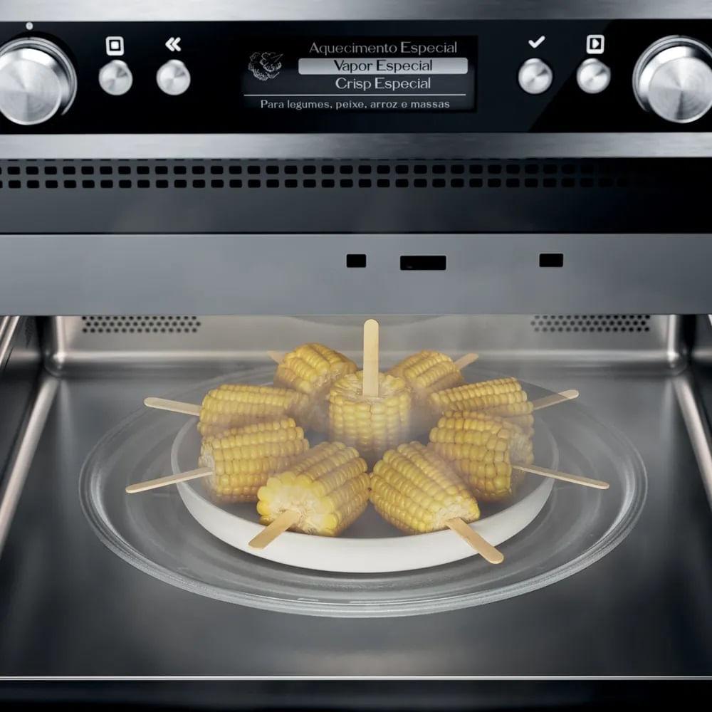 Micro-ondas de embutir Brastemp Gourmand 40 litros Inox 220V BMO45ARBNA