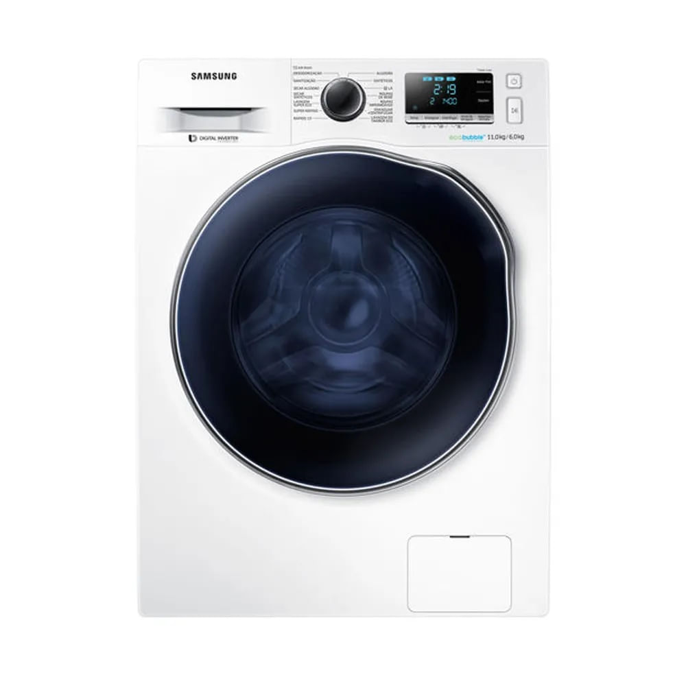 Lavadora e Secadora Samsung 11kg Branca 220V WD11J6410AWFAZ
