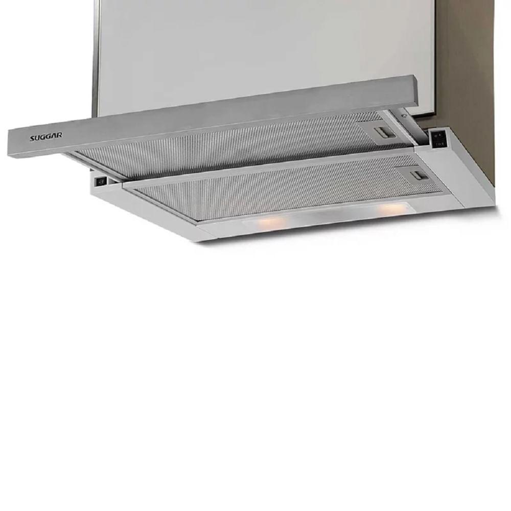 Depurador de Ar Suggar Slim de Embutir 60 CM Inox 110v DE61IX