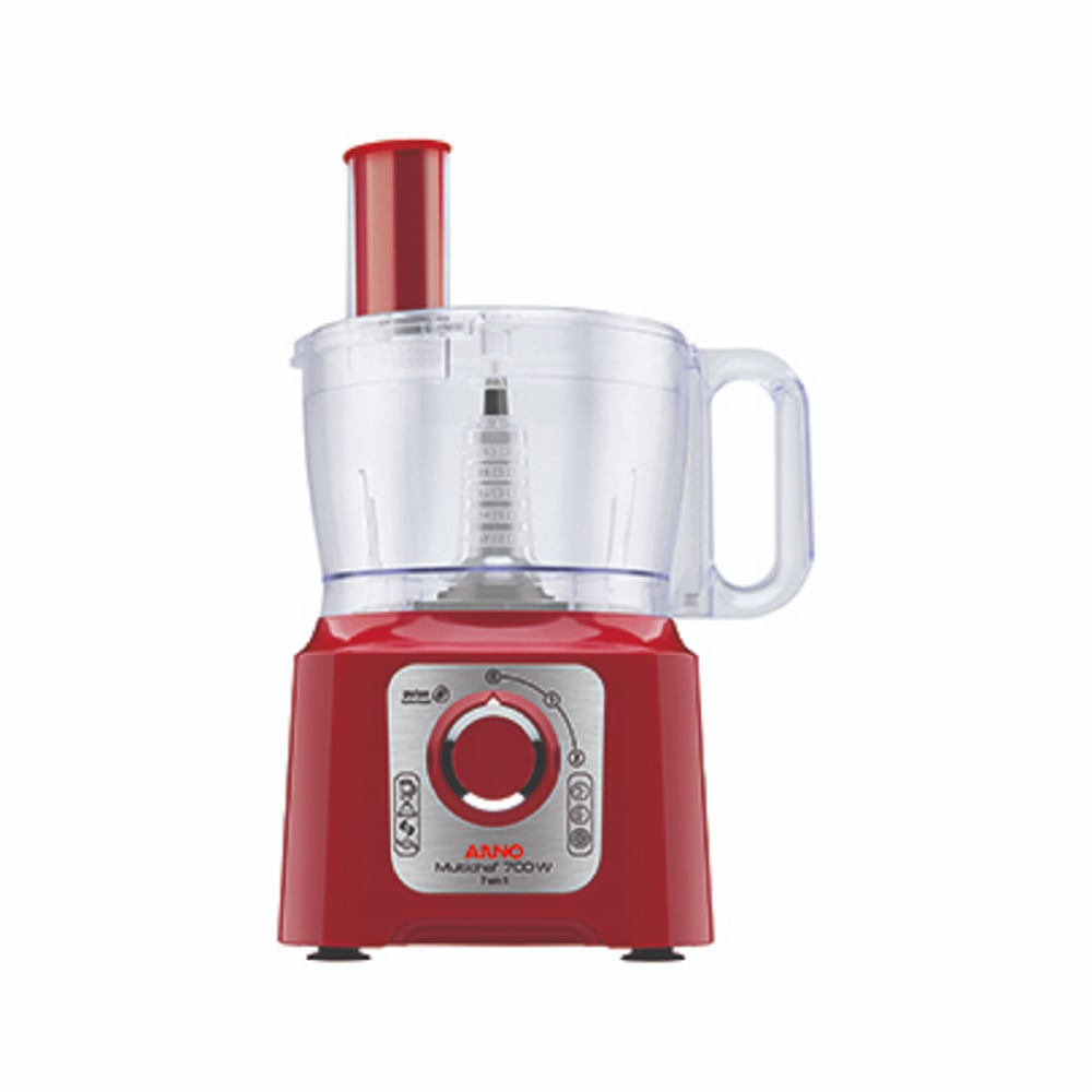 Processador de Alimentos Arno Multichef 7 em 1 Vermelho 110V MP74