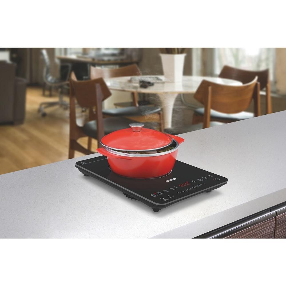 Cooktop Elétrico de Indução Tramontina Portátil Slim Touch EI 30 1 Queimador Preto 220V 94714/132