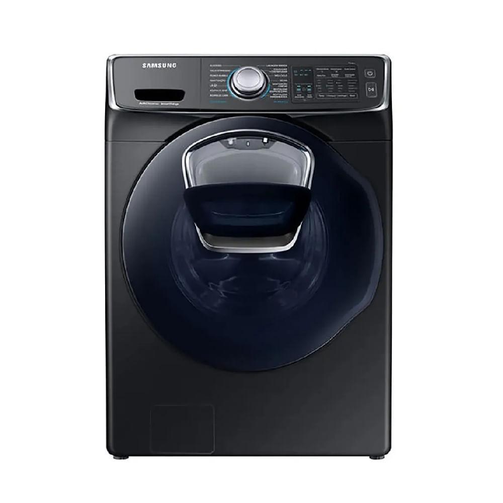 Lavadora e Secadora Samsung AddWash Eco Bubble 16 Kg Preta 110V WD16N8750KV/AZ