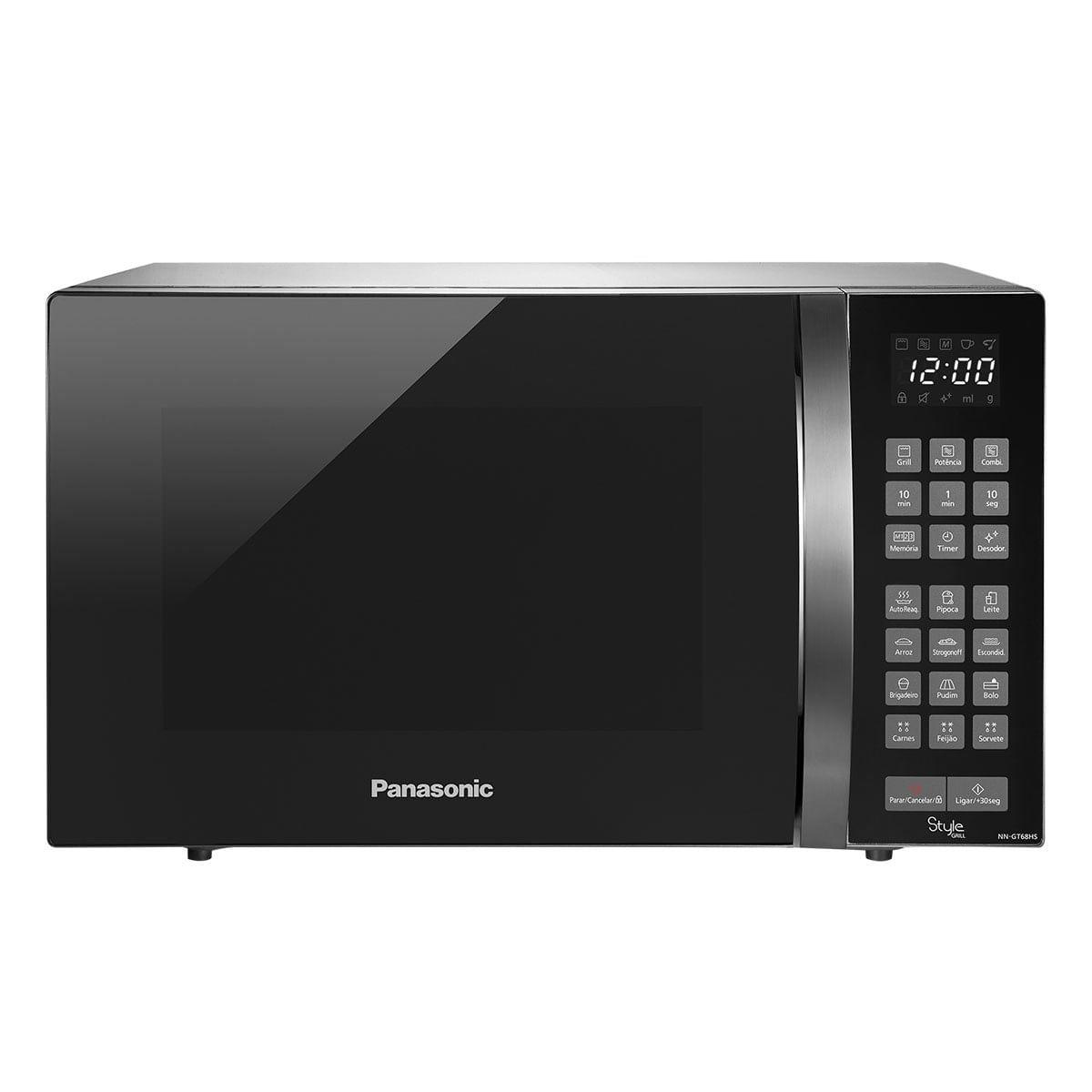 Micro-ondas Panasonic Style Grill 30L Timer Inox 220V NN-GT68HSRUK