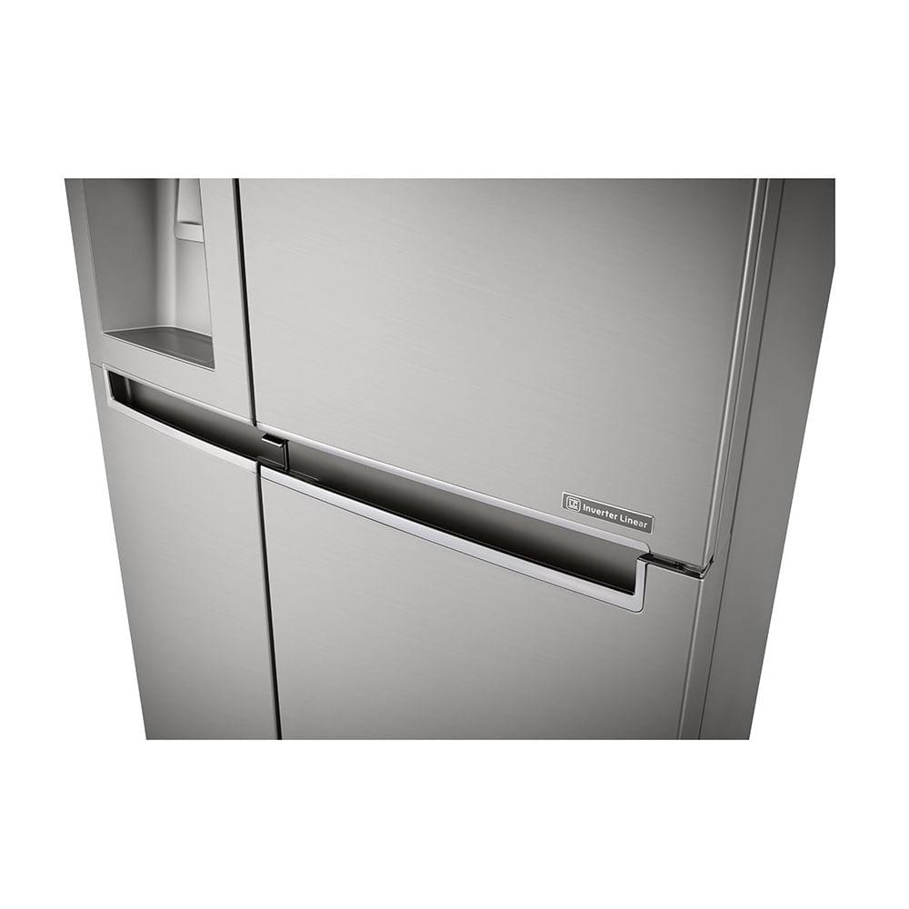 Geladeira LG Smart Side By Side Door In Door 601 Litros Aço Escovado 110V GS65SDN