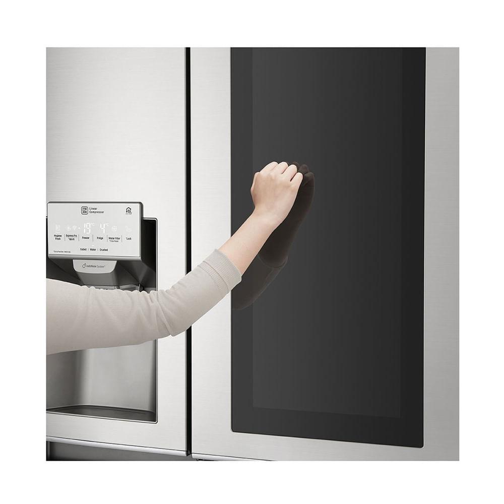 Geladeira LG Side By Side InstaView Door In Door 601 Litros Inox 220V GC-X247CSB1