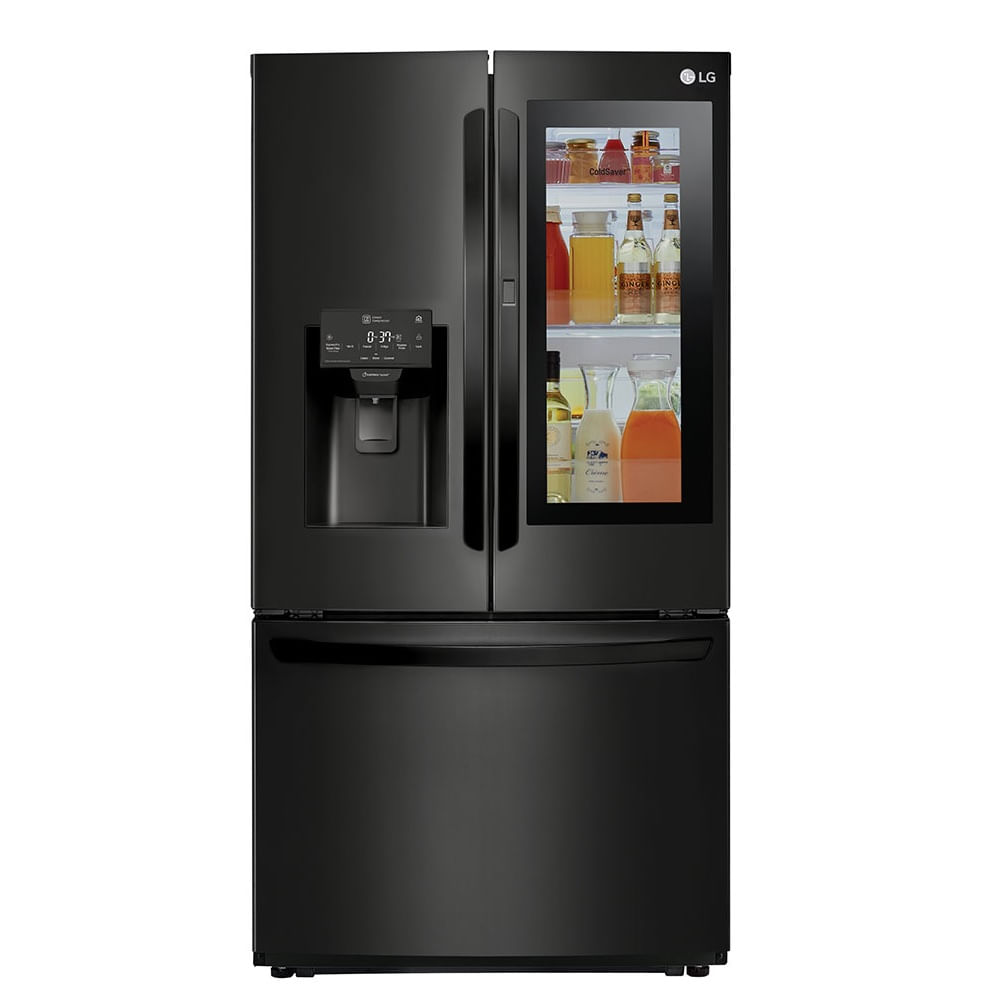 Geladeira LG Smart French Door InstaView Door In Door 525 Litros Preta 110V GR-X228NMSM