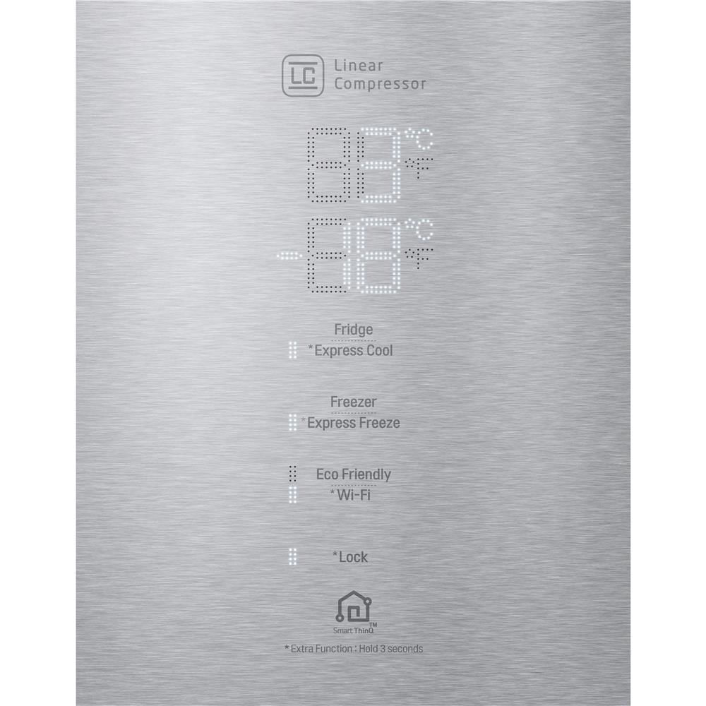 Geladeira LG Bottom Freezer Universe 451 Litros Inox 220V GC-B659BSB1