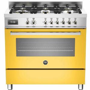 fogao-bertazzoni-amarelo-pro90