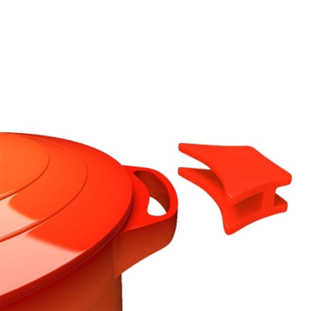 Panela Caçarola Le Cook com Revestimento Cerâmico Laranja 32cm LC1805