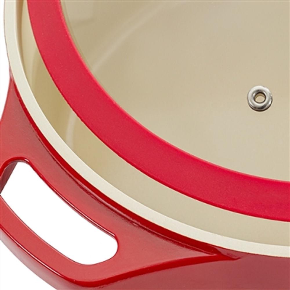 Panela Caçarola Le Cook com Revestimento Cerâmico Vermelha 28cm LC1844