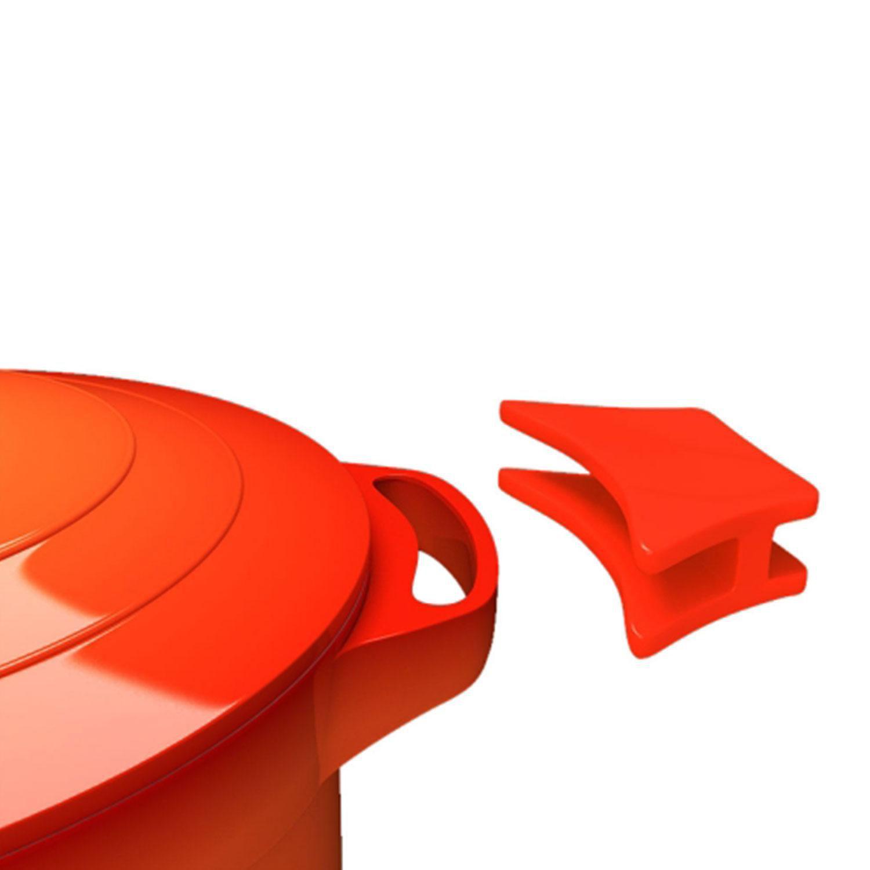 Panela Caçarola Le Cook com Revestimento Cerâmico Laranja 20cm LC1802