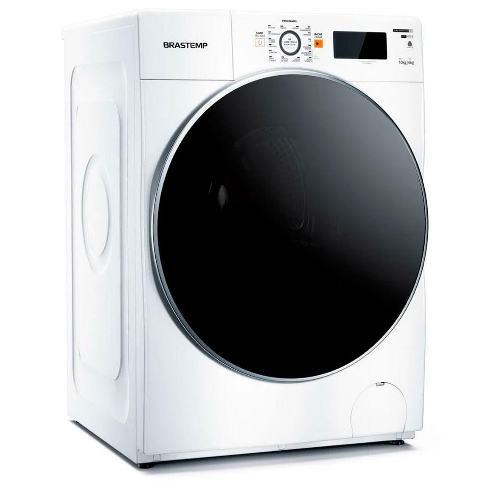 Lavadora e Secadora Brastemp 10,1Kg Branca 110V BNQ10ABANA