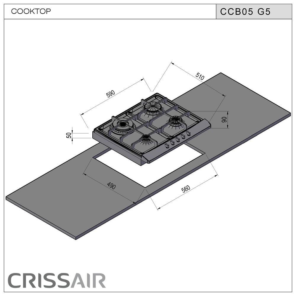 Cooktop-inox-a-gas-CCB-05-G5-2