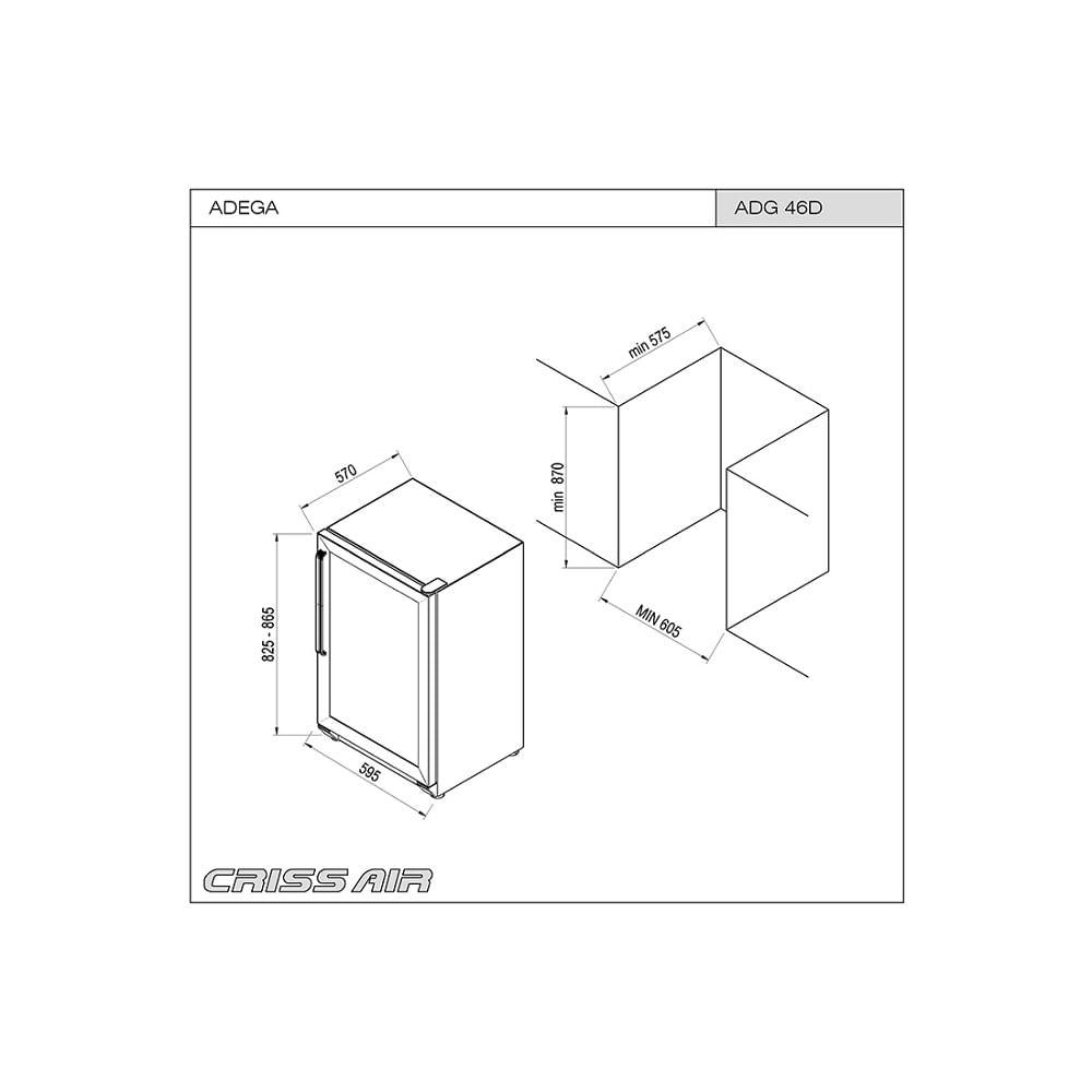 Adega-de-Embutir-Crissair-Dual-Zone-ADG-46D-46-Garrafas-129-Litros-Inox-60cm-5