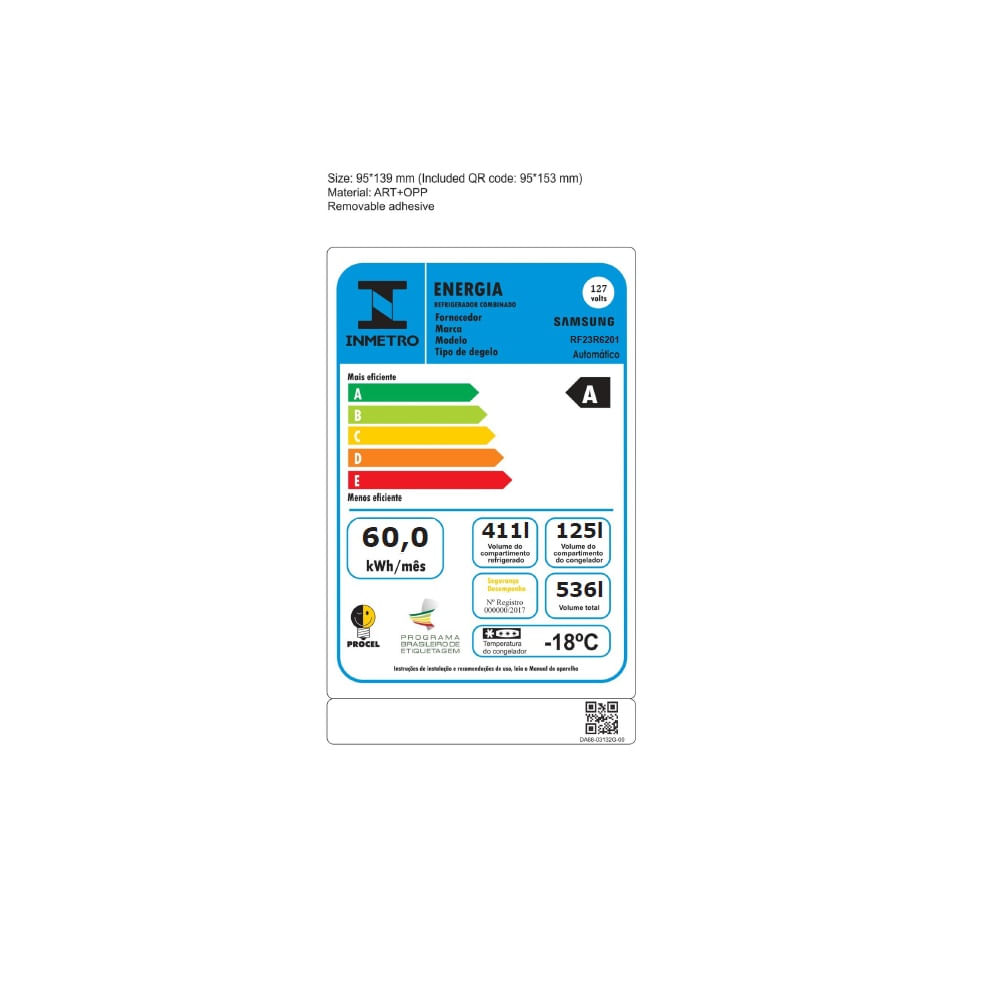 Geladeira Samsung French Door 536 Litros Inox 110V RF23R6201SR/AZ