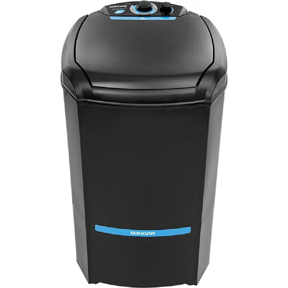 Lavadora de Roupas Suggar Lavamax Eco 15kg Preta 220V LE1502PT