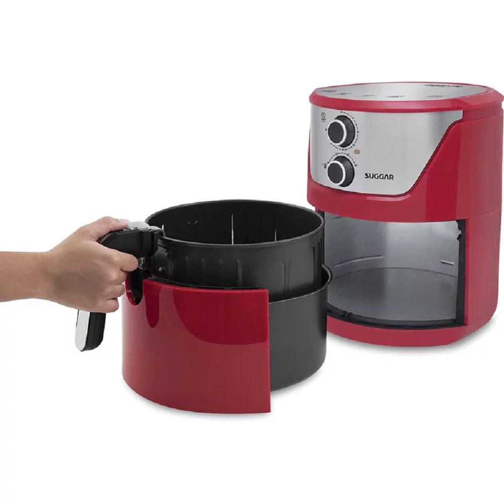 fritadeira-suggar-vermelha-6-litros-sem-oleo